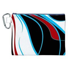 Blue, Red, Black And White Design Canvas Cosmetic Bag (xxl) by Valentinaart
