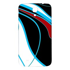 Blue, Red, Black And White Design Samsung Galaxy Mega I9200 Hardshell Back Case by Valentinaart