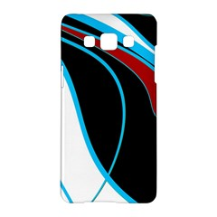 Blue, Red, Black And White Design Samsung Galaxy A5 Hardshell Case  by Valentinaart