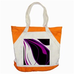 Purple Elegant Lines Accent Tote Bag by Valentinaart