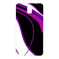 Purple Elegant Lines Samsung Galaxy Note 3 N9005 Hardshell Back Case by Valentinaart
