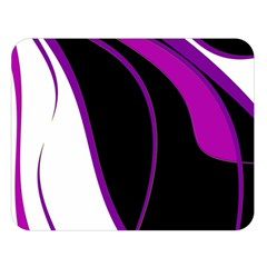 Purple Elegant Lines Double Sided Flano Blanket (large)  by Valentinaart