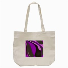Purple Elegant Lines Tote Bag (cream) by Valentinaart