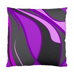 Purple Elegant Lines Standard Cushion Case (one Side) by Valentinaart