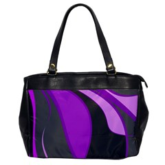Purple Elegant Lines Office Handbags by Valentinaart