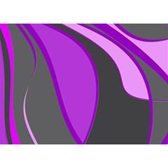 Purple Elegant Lines Birthday Cake 3d Greeting Card (7x5)  by Valentinaart