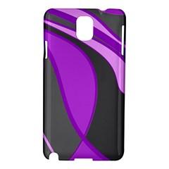 Purple Elegant Lines Samsung Galaxy Note 3 N9005 Hardshell Case by Valentinaart