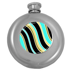 Elegant Lines Round Hip Flask (5 oz) by Valentinaart