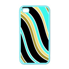 Elegant Lines Apple Iphone 4 Case (color) by Valentinaart