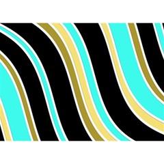 Elegant Lines Birthday Cake 3d Greeting Card (7x5)  by Valentinaart