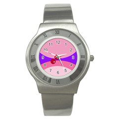 Decorative Abstraction Stainless Steel Watch by Valentinaart