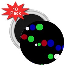 Colorful Dots 2 25  Magnets (10 Pack)  by Valentinaart