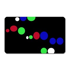 Colorful Dots Magnet (rectangular) by Valentinaart