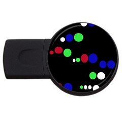 Colorful Dots USB Flash Drive Round (1 GB)  by Valentinaart