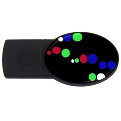 Colorful Dots Usb Flash Drive Oval (4 Gb)  by Valentinaart