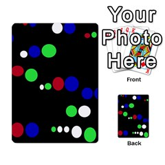 Colorful Dots Multi Purpose Cards (rectangle)  by Valentinaart