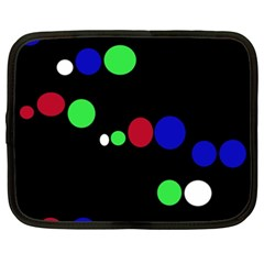 Colorful Dots Netbook Case (XXL)  by Valentinaart