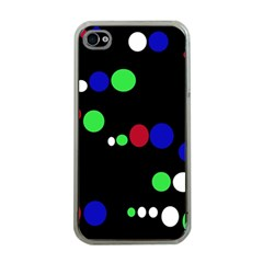 Colorful Dots Apple Iphone 4 Case (clear) by Valentinaart