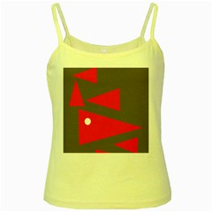 Decorative Abstraction Yellow Spaghetti Tank by Valentinaart
