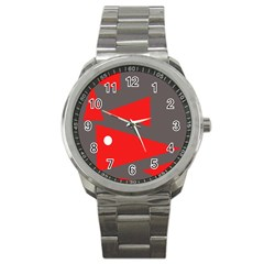 Decorative Abstraction Sport Metal Watch by Valentinaart