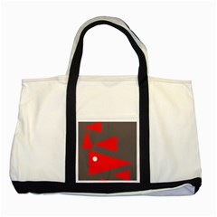 Decorative Abstraction Two Tone Tote Bag by Valentinaart