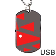Decorative Abstraction Dog Tag Usb Flash (two Sides)  by Valentinaart