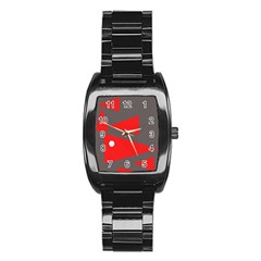 Decorative Abstraction Stainless Steel Barrel Watch by Valentinaart