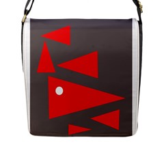 Decorative Abstraction Flap Messenger Bag (l)  by Valentinaart