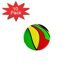 Colors Of Jamaica 1  Mini Magnet (10 Pack)  by Valentinaart