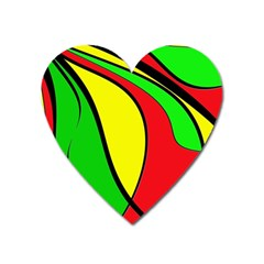 Colors Of Jamaica Heart Magnet by Valentinaart