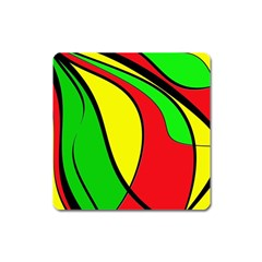 Colors Of Jamaica Square Magnet by Valentinaart