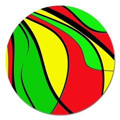 Colors Of Jamaica Magnet 5  (round) by Valentinaart