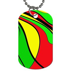 Colors Of Jamaica Dog Tag (one Side) by Valentinaart