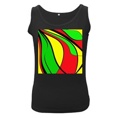 Colors Of Jamaica Women s Black Tank Top by Valentinaart