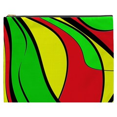Colors Of Jamaica Cosmetic Bag (xxxl)  by Valentinaart