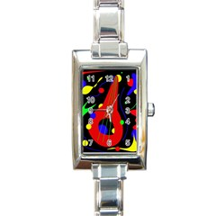 Abstract Guitar  Rectangle Italian Charm Watch by Valentinaart