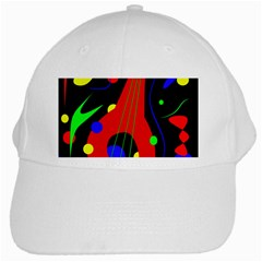 Abstract Guitar  White Cap by Valentinaart