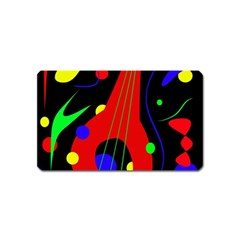 Abstract Guitar  Magnet (name Card) by Valentinaart