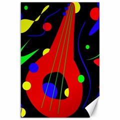 Abstract Guitar  Canvas 12  X 18   by Valentinaart