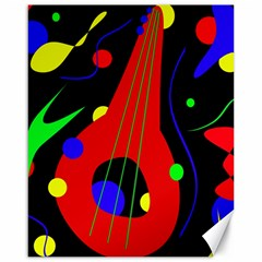 Abstract Guitar  Canvas 16  X 20   by Valentinaart