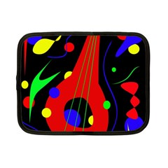 Abstract Guitar  Netbook Case (small)  by Valentinaart