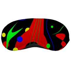 Abstract Guitar  Sleeping Masks by Valentinaart