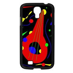 Abstract Guitar  Samsung Galaxy S4 I9500/ I9505 Case (black) by Valentinaart
