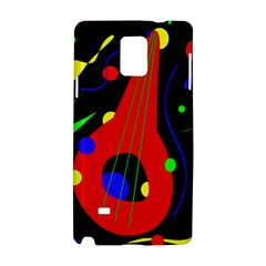 Abstract Guitar  Samsung Galaxy Note 4 Hardshell Case by Valentinaart