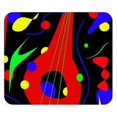Abstract Guitar  Double Sided Flano Blanket (small)  by Valentinaart