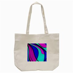 Purple And Blue Tote Bag (cream) by Valentinaart