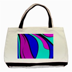 Purple And Blue Basic Tote Bag (two Sides) by Valentinaart