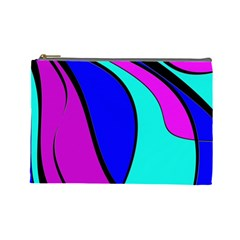 Purple And Blue Cosmetic Bag (large)  by Valentinaart