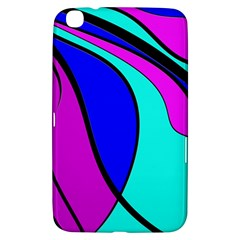 Purple And Blue Samsung Galaxy Tab 3 (8 ) T3100 Hardshell Case  by Valentinaart