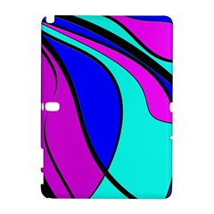 Purple And Blue Samsung Galaxy Note 10 1 (p600) Hardshell Case by Valentinaart